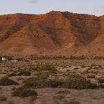 desert hills at sunset, viewed from the Jugurtha Palace Hotel