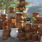 Hand-carved pottery