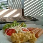 The perfect sunlight in cafeteria in Aree Tara Resort