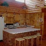 Roomy kitchen for a cozy cabin