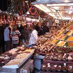 A Sweet and Chocolate Stall in the Market on Las Ramblas.