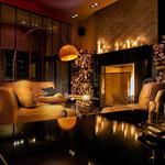 fireplace at the Deryne
