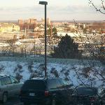 view..SUNY Brockport dorms in the background