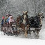 Nostalgic Sleigh ride at High View Farm