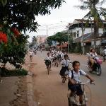 The Wat Bo location makes you feel like a local and every afternoon all the kids biking home fro