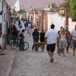 Main street of San Pedro de Atacama