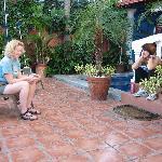 Rita and I chat on the veranda