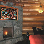 Copper Cabin Fireplace