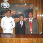 Staff: Left to right Rajat, Indra, Anil