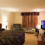 "King rooms with 32"" flat panel TV and refrigerator"