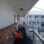 balcon,vers le motel