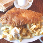 Delicious & huge fish & chips at Russell's, Bath Street, Redcar