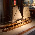 Hawaiian war canoe ca. 1790s.