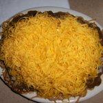 4 way chili (chili, cheese, onions, spaghetti)