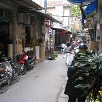 Right side of the alley once you step out of hotel
