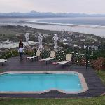 pool and view on plettenberg bay from the room