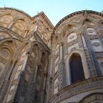 MONREALE CATHEDRAL  The outsides of the principal doorways and their pointed arches are magnific