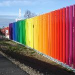 The Saariselka rainbow screen just down the road from the hotel