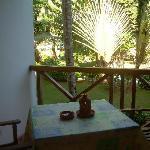 La vista desde nuestro balcón