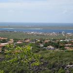 View from Seru Largu, CPR green bldg on left