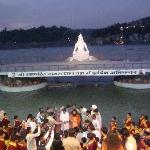 The aarti ceremony.