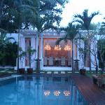 white villa in the evening
