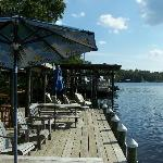 Riverfront dock / bar-b-que