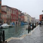 Murano and the main canal where all the glass shops are