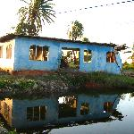 Concrete house destroyed by flood Jan 09