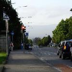 Blick von der Bushaltestelle Richtung City
