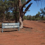 Near the actual site. The dirt road contains is mostly small rocks unlike the dust at the Mulgow