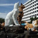 クチンの猫の像