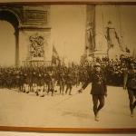 Victorious allies march in Paris after the first World War. Depicted in this photograph is the G