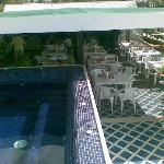 The Jacuzzi overlooking the breakfast corner @ The Rooftop Terrace