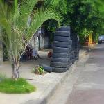 Tire store at corner...Not Disney but very Managua