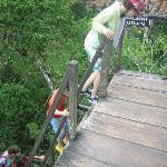 Steep stairs at Tikal, Guatemala