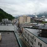 Basically what Juneau looks like out of the Baranof Hotel's corner rooms window