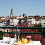 Breakfast on our terrace