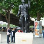 Statue of Sir Lawrence Olivier outside the NT.  He was their first artistic director.