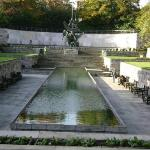 The Garden of Remembrance, dedicated to the martyrs of Irish Independence; notice the pool is sh
