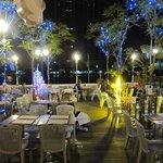 The terrace is a great place for an evening drink