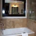 Spa tub in main bathroom