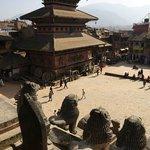 2009-11-19 Bhairab Nath Temple from Nyatapola Temple, Taumadhi Square, Bhaktapur