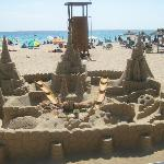 Sand sculptures at the beach