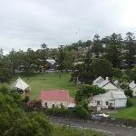 View from room 304 over park and Kiama shops