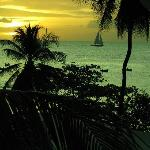 evening view from the Mango Bay