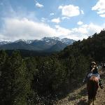Horseback riding just outside Buena Vista