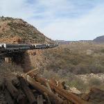 Train Winding Through the Canyon