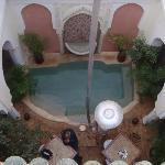 Le patio et la piscine
