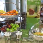 Breakfast area: choice of fruit and fresh fruit cocktail